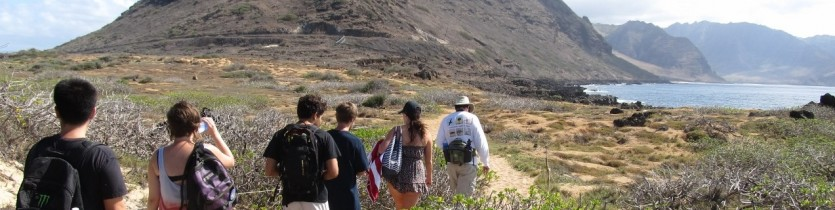 UH undergraduates visit Kaena Point - Kim Shay